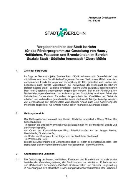 204. 2.6_Vergaberichtlinien.pdf - Iserlohn