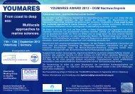 Youmares Award - Deutsche Gesellschaft für Meeresforschung (DGM)