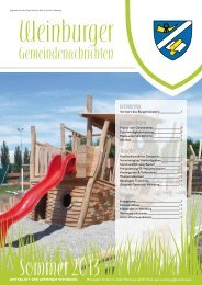 Sommer 2013 - Gemeinde Weinburg