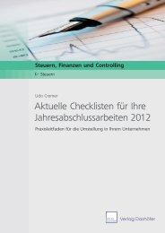 Aktuelle Checklisten für Ihre ... - Verlag Dashöfer