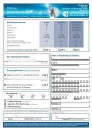 Bestellformular onlinestack - onlinestack.com