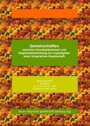Gemeinschaften - Integrierte Gesellschaft - Forum Integrierte ...