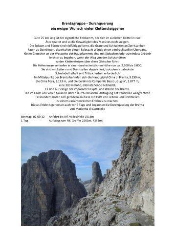 Brentagruppe - Durchquerung ein ewiger Wunsch vieler ...