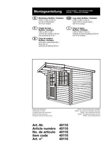 BUFFALO / KUFSTEIN Blockhaus - Plantes et Jardins