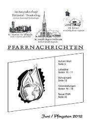 Juni / Pfingsten 2012 - Pastoralverbund Hüttental-Freudenberg