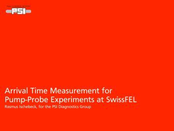 Arrival Time Measurement for Pump-Probe Experiments at ... - Desy