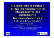 Minimalinvasive chirurgische Therapie von Knochenzysten mit ...