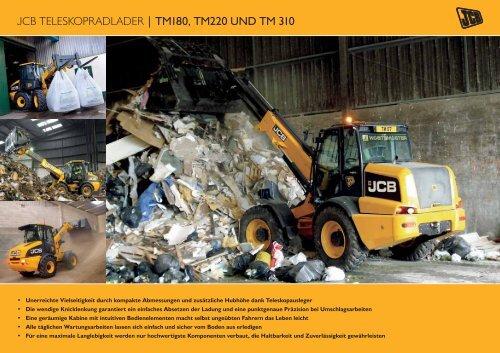 JCB TELESKOPRADLADER   TM180, TM220 UND TM 310