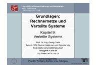 Grundlagen: Rechnernetze und Verteilte Systeme - zur Vorlesung ...