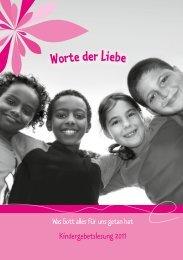 Die Kindergebetslesungen als PDF zum Herunterladen