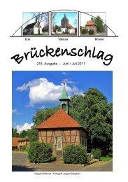 218. Ausgabe — Juni / Juli 2011 - Kirchen im Landkreis Peine