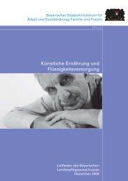 Künstliche Ernährung und Flüssigkeitsversorgung - Bayern