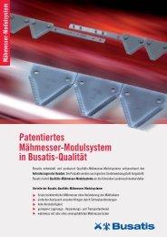 Patentiertes Mähmesser-Modulsystem in Busatis ... - Busatis GmbH