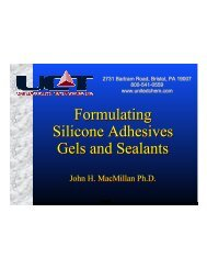 Formulating Silicone Adhesives Gels and Sealants Formulating ...
