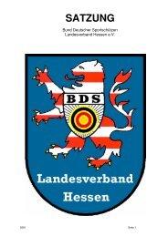 Satzung des BDS Hessen e.V. - Bund Deutscher Sportschützen ...
