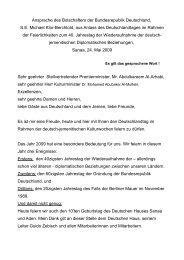Ansprache des Botschafters der Bundesrepublik Deutschland, S.E. ...