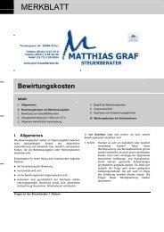 Bewirtungskosten - Steuerberater Matthias Graf