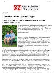 Bericht in den Grafschafter Nachrichten vom 18.06.2013