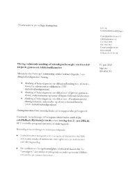 Høring vedrørende ændring af bekendtgørelsesregler om ... - Net