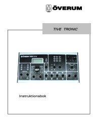 Instruktioner Tive Tronic - Kongskilde