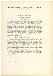 A Magyar Természettudományi Múzeum évkönyve 31. (Budapest ...