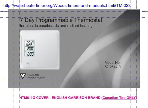 Noma thermostat manual - Water Heater Timers Save Money