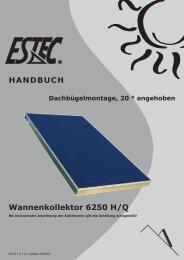 HANDBUCH Wannenkollektor 6250 H/Q