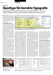 OpenType für korrekte Typografie - Publisher
