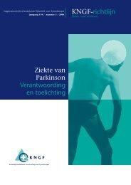 KNGF richtlijn: Verantwoording en toelichting - ParkinsonNet
