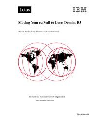 Moving from cc:Mail to Lotus Domino R5 Moving ... - IBM Redbooks