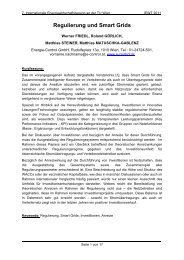 Regulierung und Smart Grids - EEG