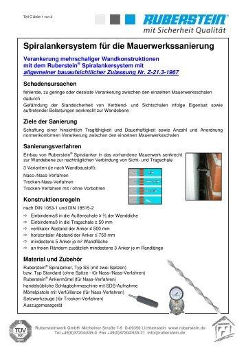 4 Technische Beschreibung - Verankerung - Spiralankersystem