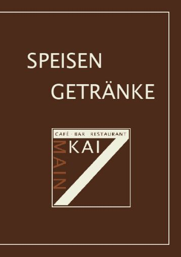 Speisekarte - Mainkai7.de