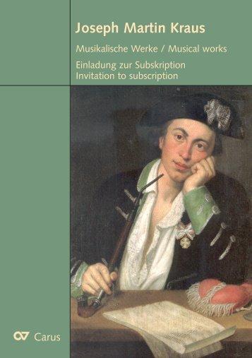 Joseph Martin Kraus - Harrassowitz