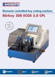 Electronic controlled key cutting machine Börkey 208 ECOS 5.0 CPL