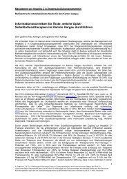 Informationsschreiben für Ärzte - Kantonsspital Aarau