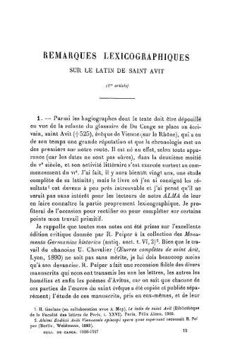 REMARQUES LEXICOGRAPHIQUE S