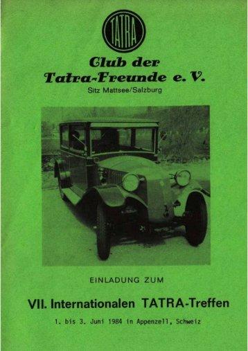 Offizielle Einladung zum Treffen in Appenzell
