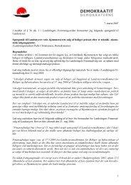 Spørgsmål til Landsstyret vedr. hjemmestyrets salg af ... - Inatsisartut