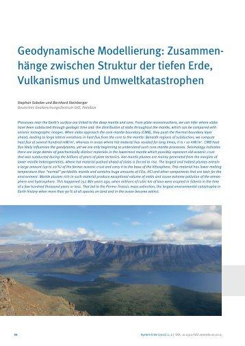 hänge zwischen Struktur der tiefen Erde, Vulkanismus und ...