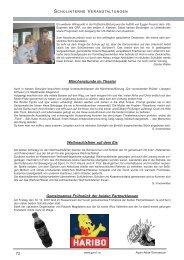 Schulinterne Projekte - Gymnasium Völkermarkt
