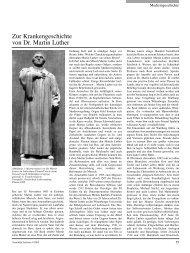 Zur Krankengeschichte von Dr. Martin Luther