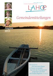 Gemeindemitteilungen August 2013 (0,4 MB) - Bibelkonferenzstätte ...