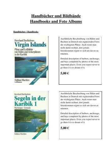 Handbücher und Bildbände Handbooks and Foto Albums