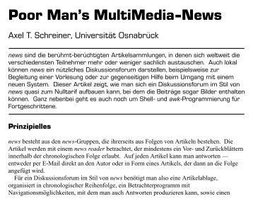 Poor Man's MultiMedia-News