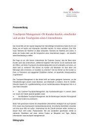 Pressemeldung Touchpoints - CRM Finder