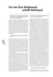 Nur der faire Wettbewerb schafft Wohlstand - Buchhandel.de