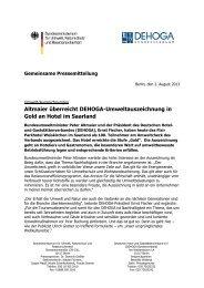 Altmaier überreicht DEHOGA-Umweltauszeichnung in Gold an Hotel ...