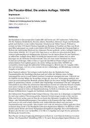 Die Piscator-Bibel, Die andere Auflage. 1604/06 - Sepher-Verlag ...