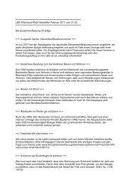 LBS Rheinland-Pfalz Newsletter Februar 2011 vom 21.02.
